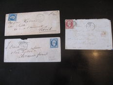 France, 1854/1864. Letter from army corps in Italy and Mexico. Signed Calves.