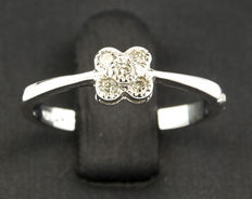 White gold ring with five diamonds