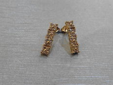 18k Gold Diamond Drop Earrings  - 0.50ct total  I/J  SI2