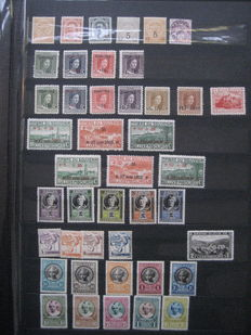 Luxembourg - Collection of stamps and series in stock book