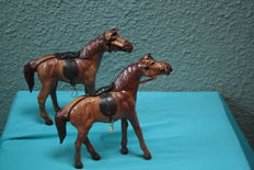 Set of Leather Horses