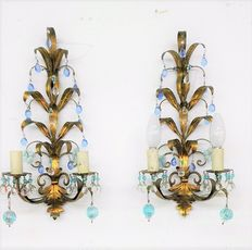 Pair of appliques, 1960, Italy