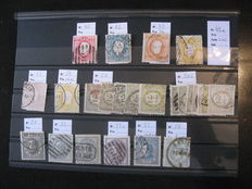 Portugal 1850/1870 – Collection of stamps.