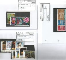 Lot of world stamps in card binder.