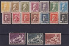 Spain - Selection of 73 stamps with telegraph and Civil War.