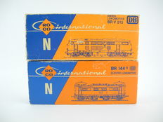 Roco N - 2154/2150A - 1 Diesel locomotive BR 215 and 1 Electric locomotive BR 144 of the  DB  [252]