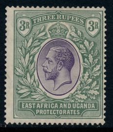 British East Africa - collection on stock cards