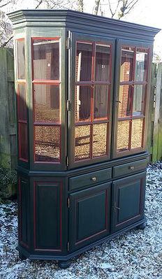 Old Dutch glass cabinet from second half of 20th century