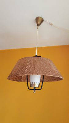 Unknown designer – ceiling light with sisal