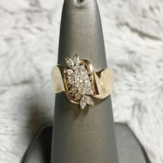 Diamond Cluster ring, 0.70ct total - size 7
