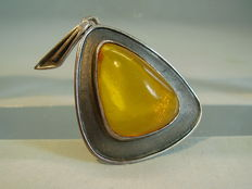 Designer pendant with honey amber around 1930 / 35.
