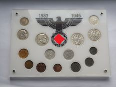Third Reich - Coin set of 15 coins, including silver and rare ones