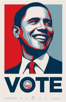 Shepard Fairey - Barack Obama Vote