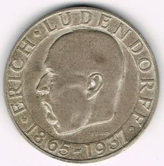 Third Reich - Silver Medal 1937 by B. Bleeker commemorating to the Death of the General Erich Ludendorff, 1865-1937