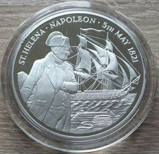 "St. Helena & Ascension Island - 25 Pounds 1986 ""Napoleon"" - Silber 5 Oz"