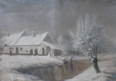 Frans Bakker (1909 - ?) - Mist in de winter
