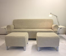 Philippe Starck for Cassina - Lazy working sofa with 2 hockers