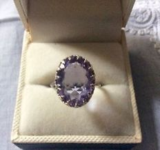 Solid Silver and Royal Amethyst Ring