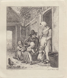 Two prints by Pieter de Mare ( 1757-1796) after Christina Chalon (1748-1808) -  ca. 1777-1779
