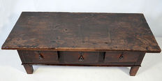 17th/18th century Spanish style table with three drawers