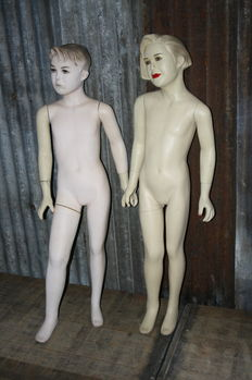 Two vintage mannequins, mid 20th century, Dutch