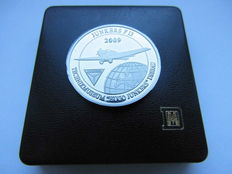 Germany, History of Fligh t - Medal 2009 commemorating to Professor Hugo Junkers and his world's first all-metal transport aircraft Junkers F. 13