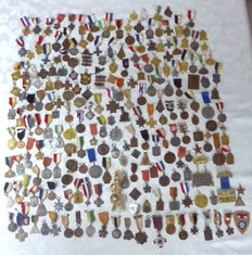 Large collection of 220 walking medals
