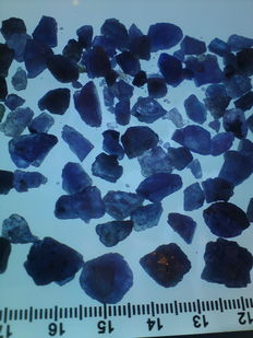 Lot of Tanzanite, clear blue and untreated - 60 gr
