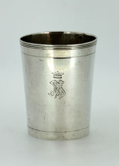 Antique royal silver cup, Russia, Moscow, 1812