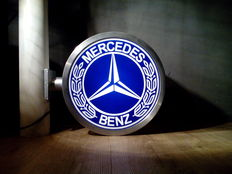 Mercedes Benz - Lightbox / light advertisement - Double sided / Stainless steel - 40 x 50 cm