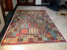 HIGH QUALITY Vegi Hand Made  Chobi Kilim Rug Double Face Design 199 x 304 cm