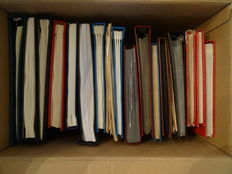 Netherlands and Overseas - Batch in 18 stock books, albums and on loose sheets