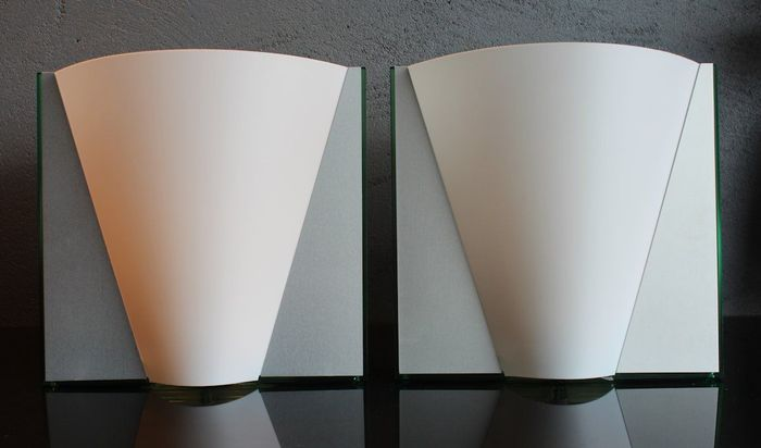 Paolo Bistacci for Tre Ci Luce – a pair of Italian design sconces ...