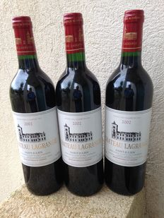 2002 Chateau Lagrange, Saint Julien, 3ème Grand Cru Classé - 3 bottles