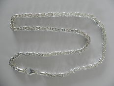 Unworn silver men's necklace, type Byzantine link, silver grade 925