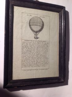 France balloon flight of M.BLANCHARD March 2, 1784 in Paris