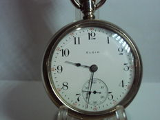 Elgin National Watch Co. U.S.A – pocket watch with excellent balancing system, 55.5 mm – 1900