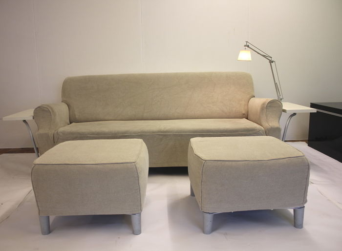philippe starck for cassina lazy working sofa with 2 hockers catawiki. Black Bedroom Furniture Sets. Home Design Ideas
