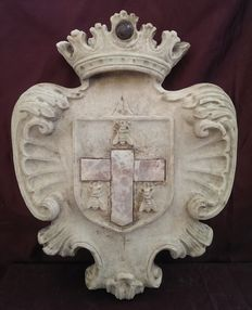 Bronzetto marble Napoleonic coat of arms -France - second half of the 19th century