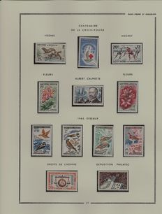 Ex-French colonies, Saint Pierre and Miquelon 1958/1976 – 17 complete years - DOM (Overseas Dominion) period - Everyday postage.