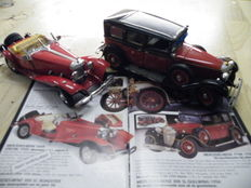 Franklin Mint - Scale 1/24 - Mercedes-Benz 770 K Der Grosser 1935 &  Mercedes-Benz 500 K Special Roadster 1935