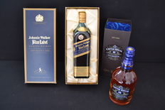 2 bottles - Johnnie  Walker Blue Label and Chivas Regal  18 years old