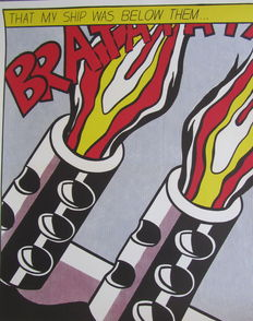 Roy Lichtenstein - (after) As I opened fire
