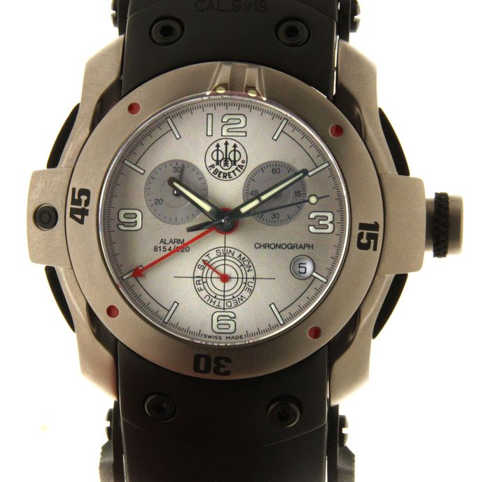 "P. Beretta wristwatch - alarm - chronograph - ""NO RESERVE PRICE"""