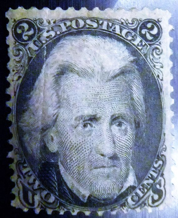 USA 1868 - Scott 85B 2C black Andrew Jackson (Black Jack) with Grill Z