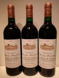1998 Chateau Grand Pontet, Saint-Emilion Grand Cru Classé - 3 Bt