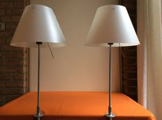 "Paolo Rizzatto for Luceplan Italy – set of 2 table lamps ""Costanza "" series."