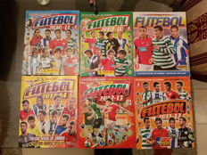 Panini - Superliga Football - from 2009 to 2014 - 6 Football Trading Cards Albums - 4 Complete + 2 Incomplete.