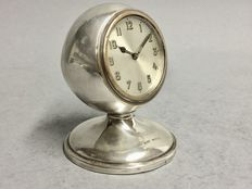 Silver desk clock - C.P. & Co, Birmingham England - Approx. 1925