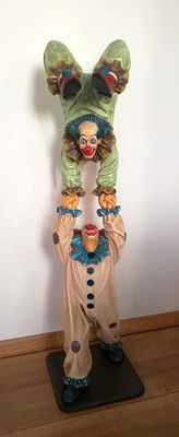 Large statue with clowns, 2nd half 20th century
